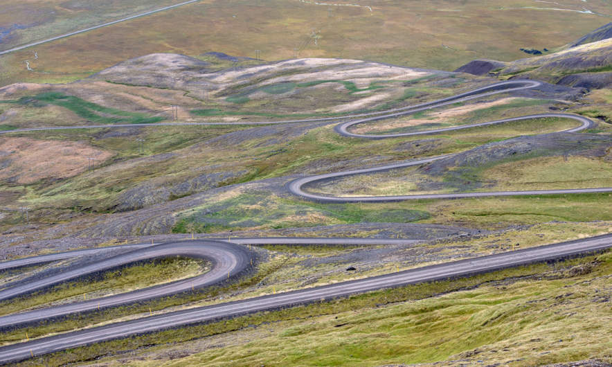 Road 917 switchbacks