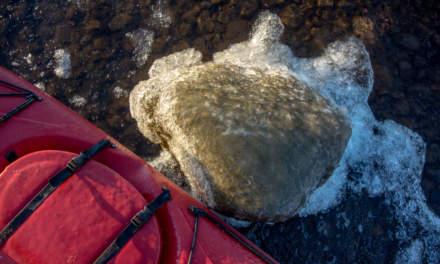 Iced stone –iced kayak.