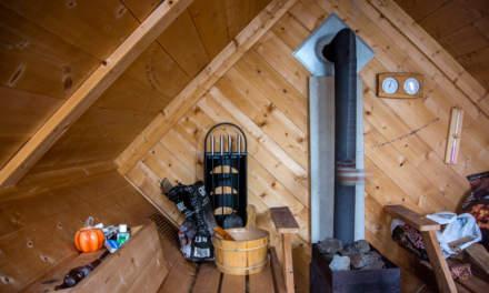 The raft sauna