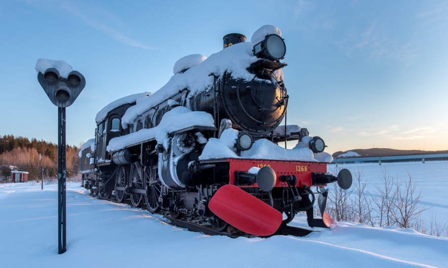 Steam locomotive in Kusfors