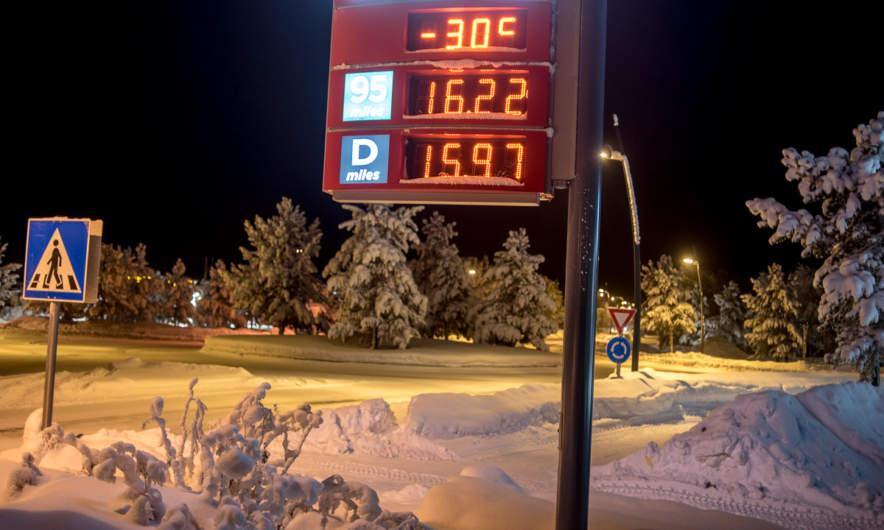 -30 °C in Karasjok