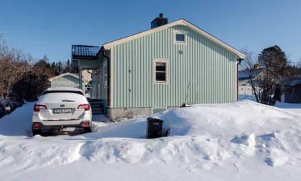 Arrival home in Skelleftehamn