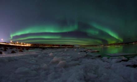 Aurora over Skelleftehamn II