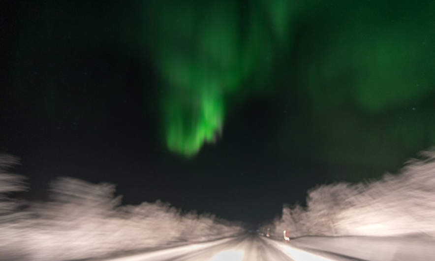Aurora from the car IV