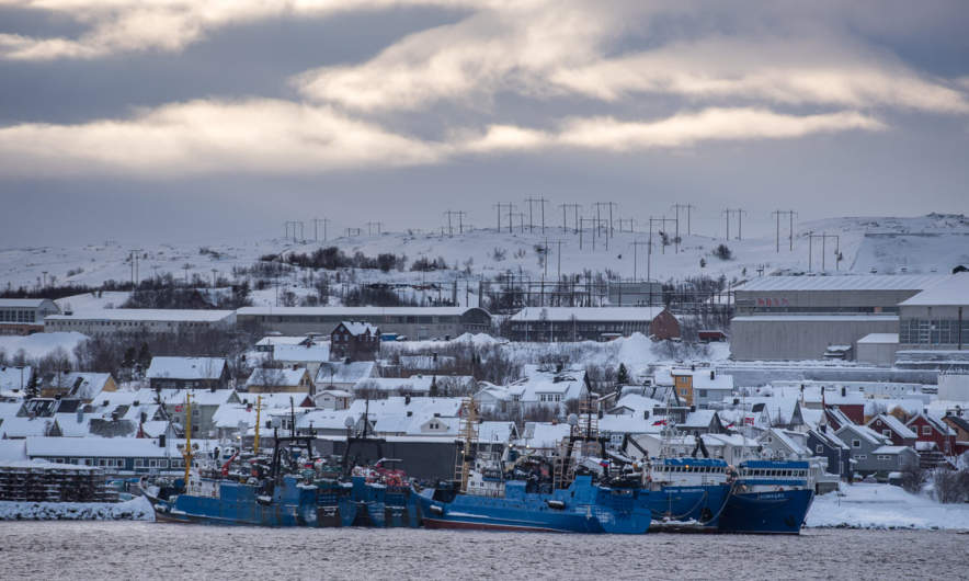 Russian fishing vessels in Kirkenes