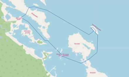 The route of the ski tour