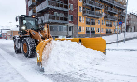 Snow in Hammerfest – clearing