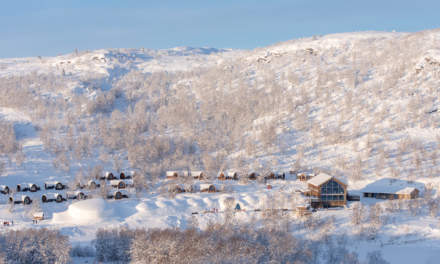 Snowhotel Kirkenes from above