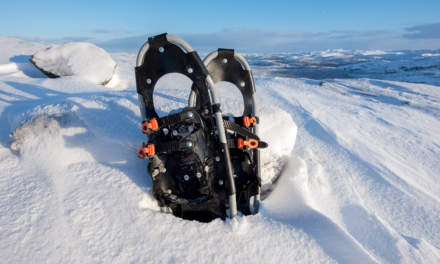 My borrowed snowshoes
