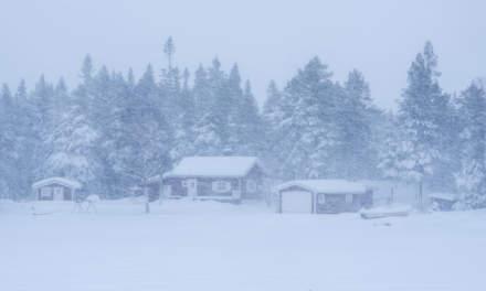 Heavy snowfall on the ski tour I