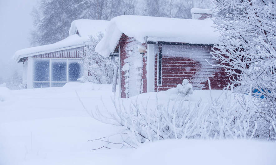 Summer cottages in wintertime
