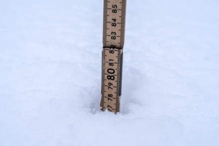 77 cm of snow in Skelleftehamn