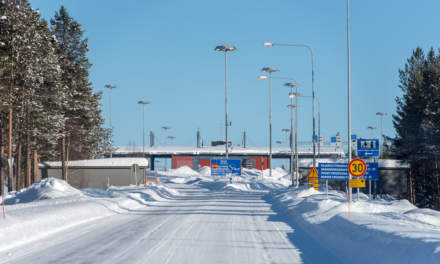 Approaching the Finnish-Russian border