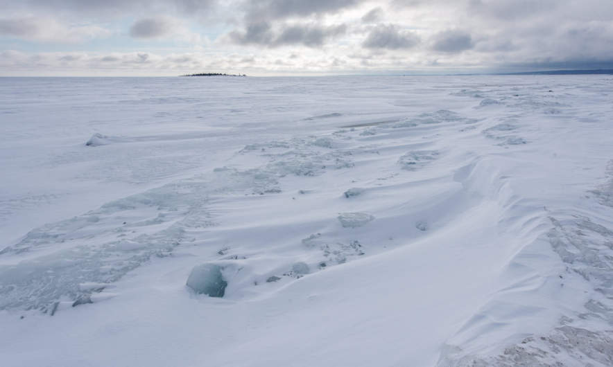 Ice covered Baltic Sea