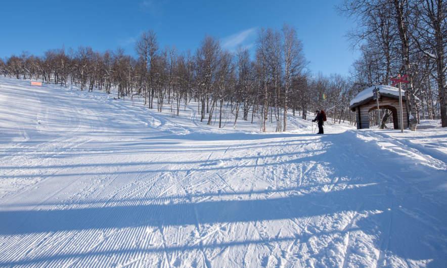 In the ski area I