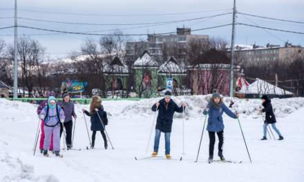 Leisure skiers