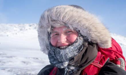 Annika on ski tour