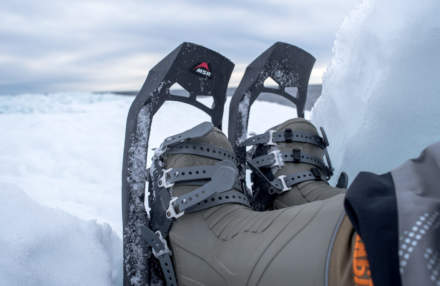 Showshoes and Russian winter boots
