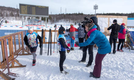 Skiing competition – interviewing