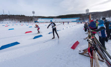 Skiing competition – starting
