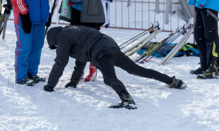 Skiing competition – warming up I