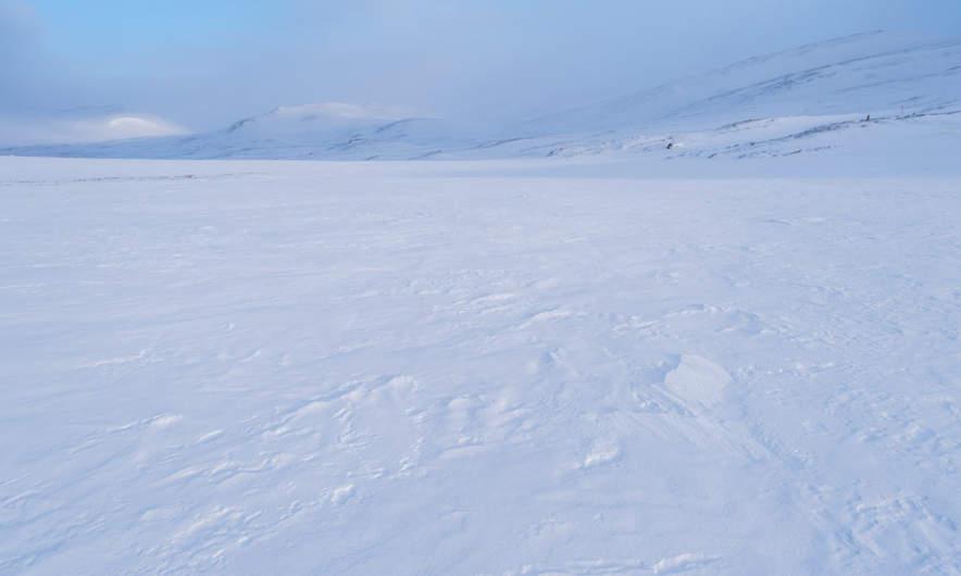 Snow covered plain