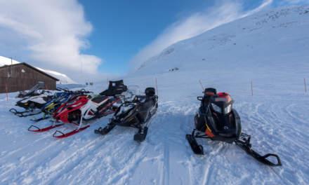 Snowmobile parking
