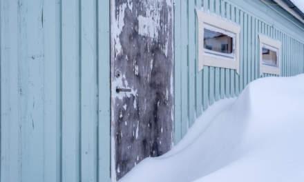Snowy garage I