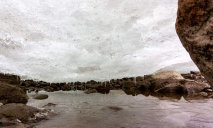View under the ice –Ice dome