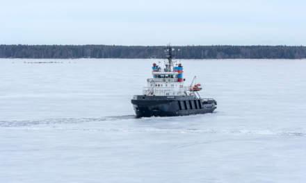 Icebound ship I