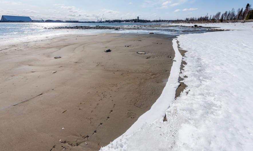 Extreme Low water in Skelleftehamn