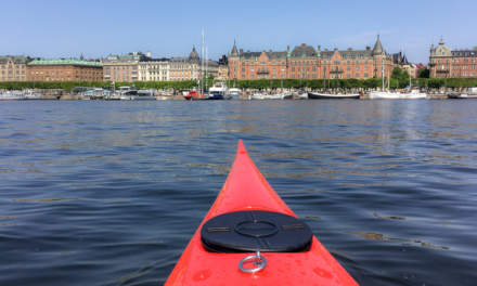 22 May – paddling in Stockholm