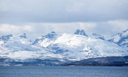 Sunny mountain range