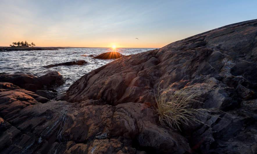 Sunset at the coast