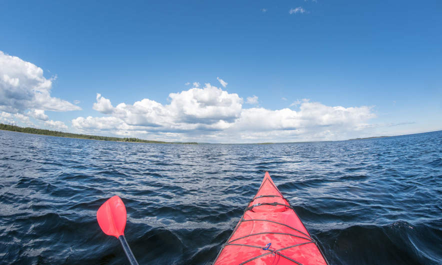 Paddling on the Baltic Sea