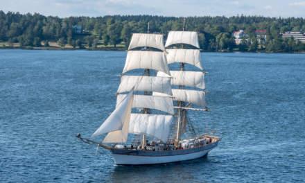 A huge sailing boat