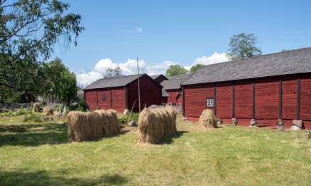 Stensjö by I – wooden houses and hay