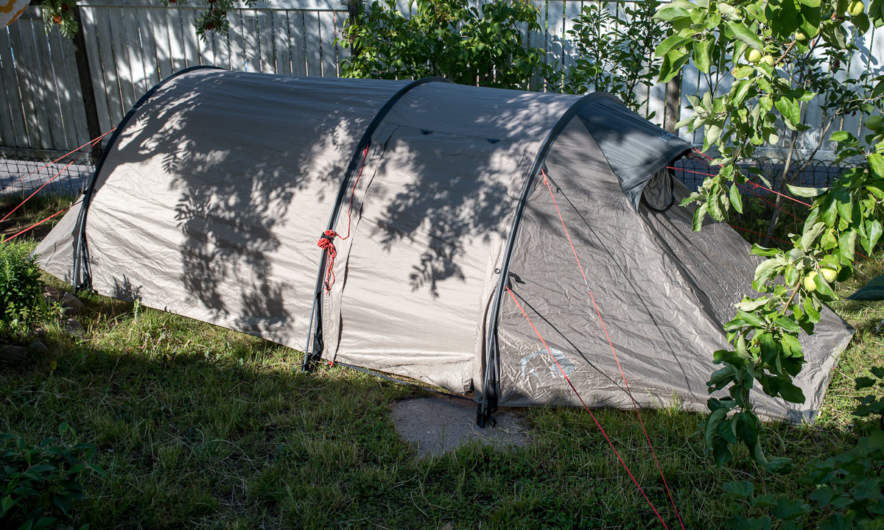 Tenting in the garden