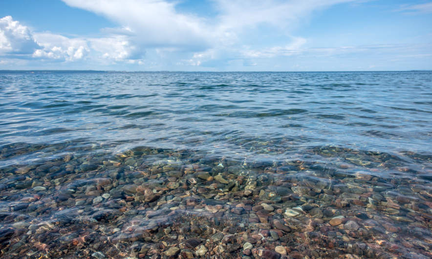 Vättern – crystal clear water