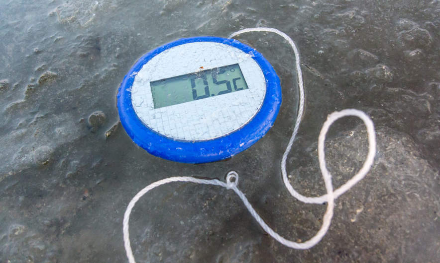Water temperature 0.5 °C
