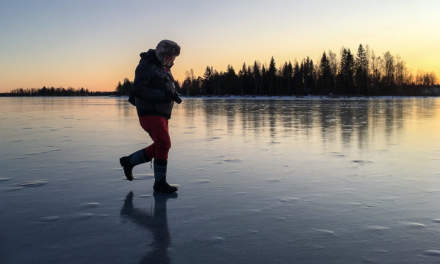 8 days ago: walking over the ice