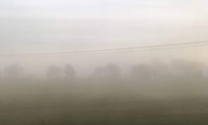 Fog in the North German Plain