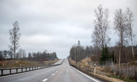 Road in Southern Sweden