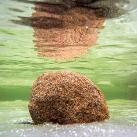 Underwater rock at the beach II