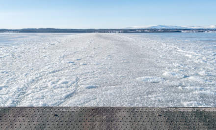 On the ferry VI – slush ice ahead