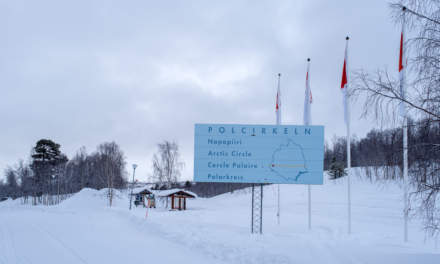 The road 95 crosses the polar circle