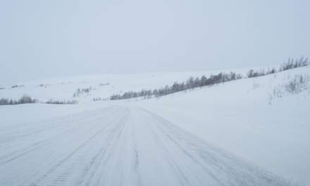Through the windscreen VII – road 95 over the kalfjäll