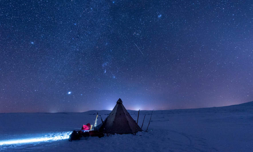 Starry night in the kalfjäll – a magic moment