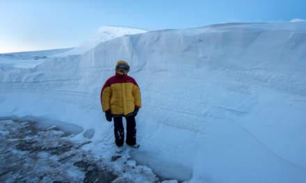 Huge snow drifts