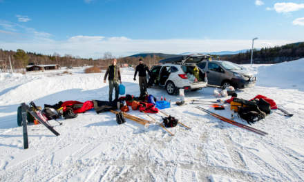 Vålådalen parking – a good starting point for ski tours